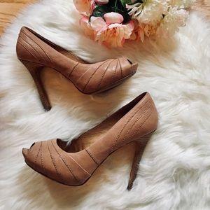 🌹L.A.M.B. Tan/ Blush Leather High Heels 8.5M